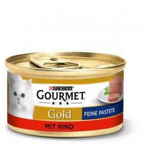 GOURMET Gold Feine Pastete Katzennassfutter mit Rind