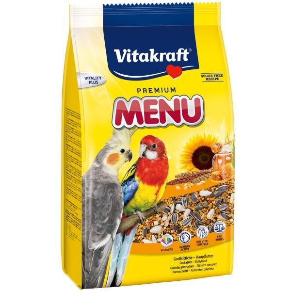 Vitakraft Premium Menü Honig für Großsittiche 3kg