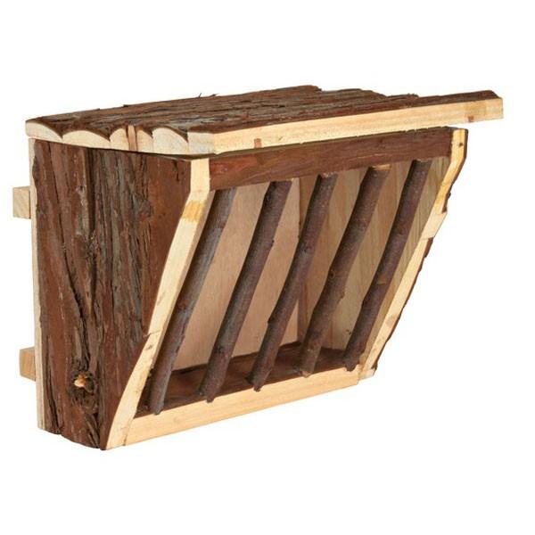 Trixie Heuraufe aus Holz zum Einhängen