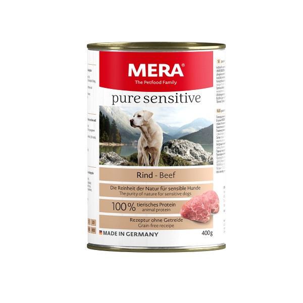 MERA pure sensitive Nassfutter MEAT Rind