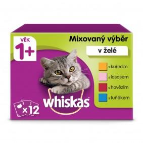 Whiskas kapsičky mixovaný výběr v želé