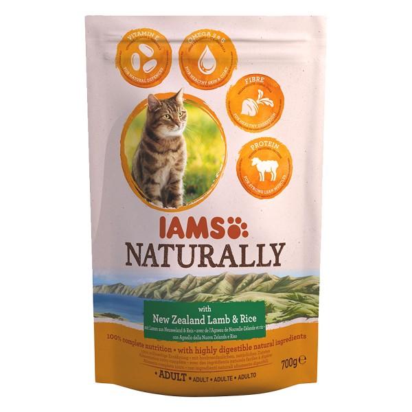 IAMS Naturally Katze Trockenfutter Adult Lamm &...