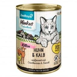 ZooRoyal Minkas Naturkost Kitten Huhn & Kalb verfeinert mit Cranberries & Leinöl