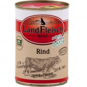 Landfleisch Hundefutter Dog Wolf Rind