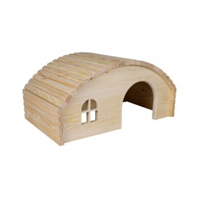 Maison ronde en bois