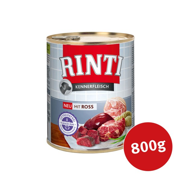 Rinti Nassfutter Kennerfleisch mit Ross 800g