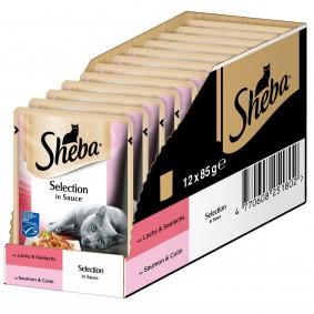 Sheba Katzenfutter Selection in Sauce mit Lachs und Seelachs (MCS)