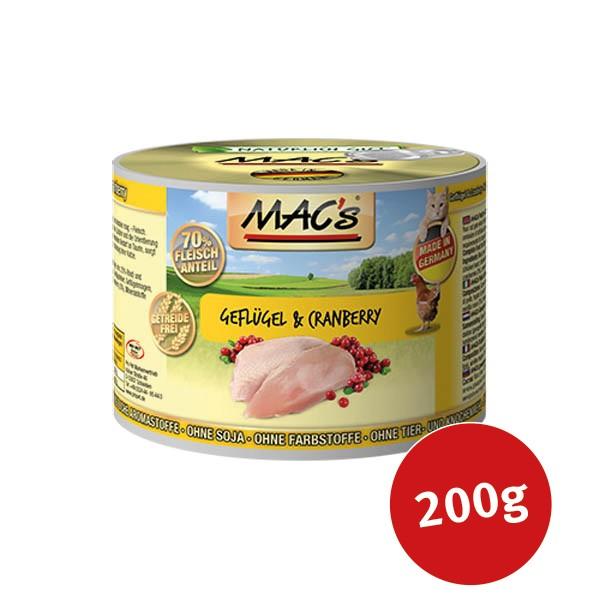 mac 39 s cat katzenfutter fleischmen gefl gel cranberry. Black Bedroom Furniture Sets. Home Design Ideas
