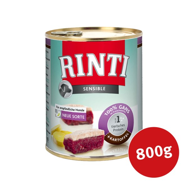 Rinti Hunde-Nassfutter Sensible Gans und Kartoffel