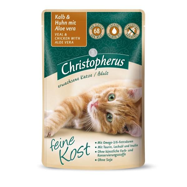 Christopherus Katze Adult Kalb und Huhn mit Aloe Vera 12x85g