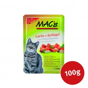 MAC's Cat Katzenfutter Pouchpack Lachs, Geflügel und Preiselbeeren
