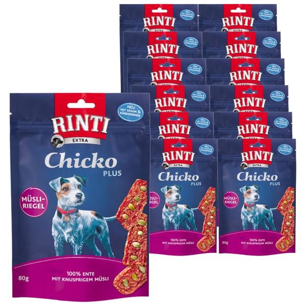 Rinti Hundesnack Chicko Plus Ente & Müsli 12x80g