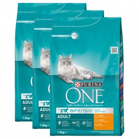Purina One Bifensis Adult kuřecí, 3 x 1,5 kg