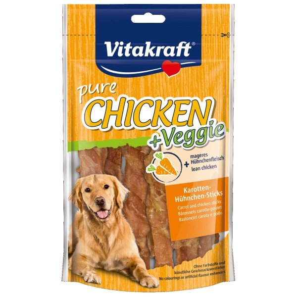 Vitakraft Hundesnack Chicken Veggie Karottenstick und Hühnchen 80g