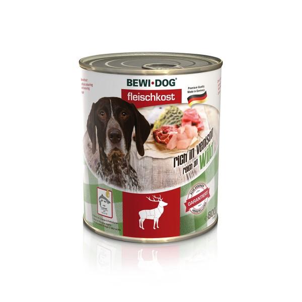 Bewi Dog Hunde-Fleischkost Reich an Wild