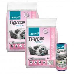 ZooRoyal Tigrooo mit Babypuderduft 2x12kg+Deo Babypuder 700g