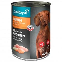 ZooRoyal Hunde-Nassfutter Mono-Protein Huhn mit Zucchini & Möhren